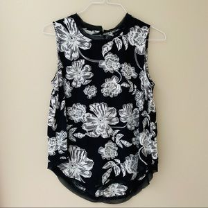 Who What Wear Sleeveless Floral Print Top